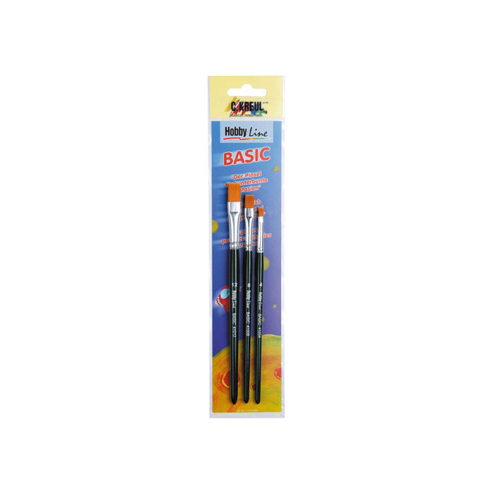 Hobby Line Pinsel-Set, BASIC, flach