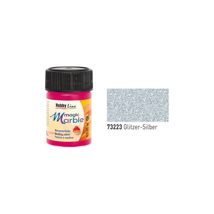 Hobby Line Magic Marble Glitzer-Silber, 20ml