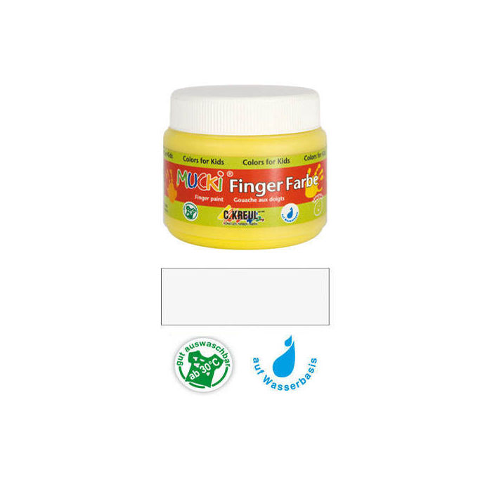 MUCKI Fingerfarbe Weiß 150 ml