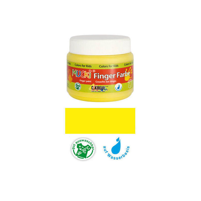 MUCKI Fingerfarbe Gelb 150 ml