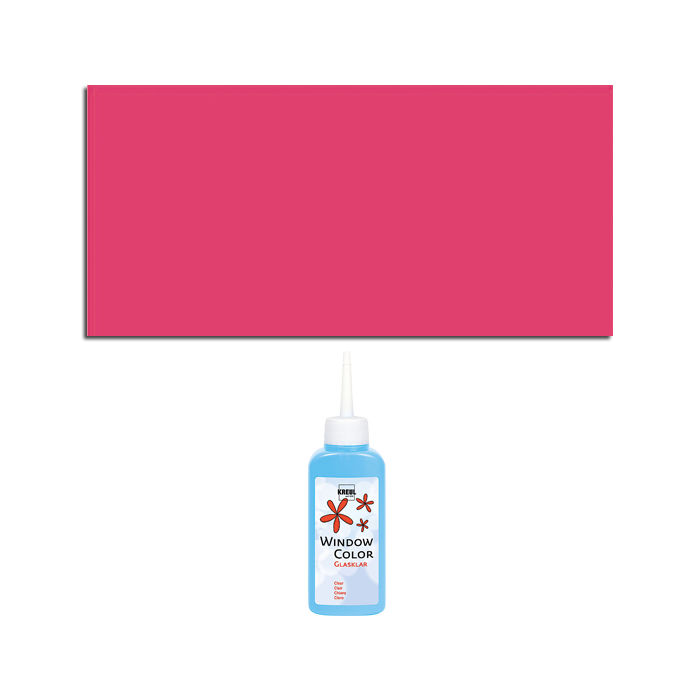 Kreul Windowcolor Glasklar 80ml Pink