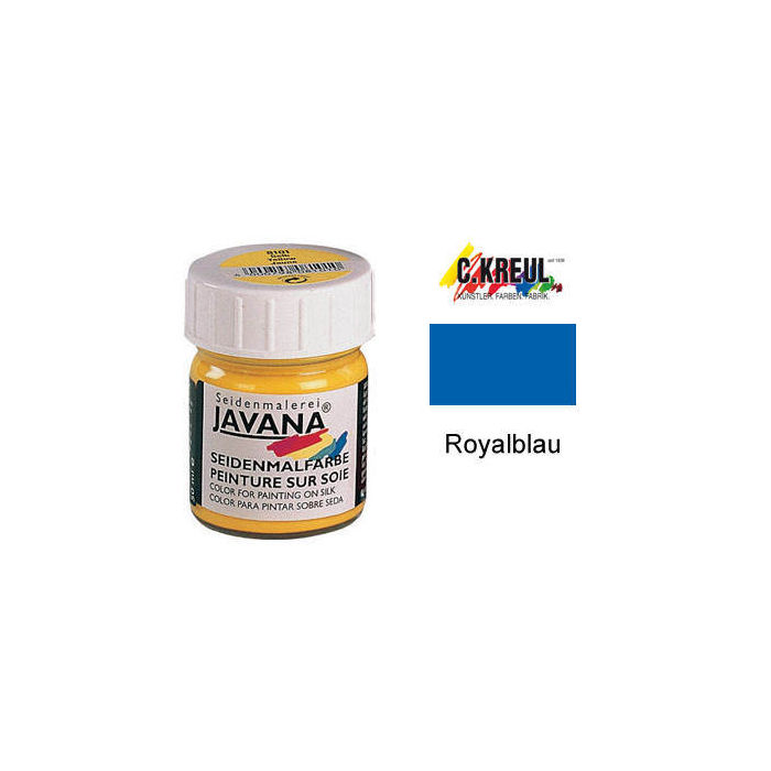 Javana Seidenmalfarbe 50ml Royalblau