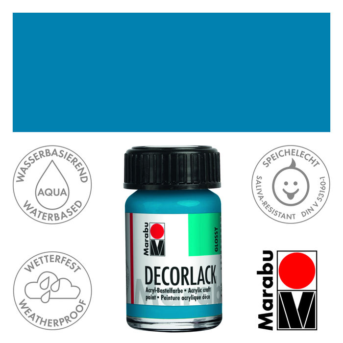 Marabu Decorlack 15ml Cyan