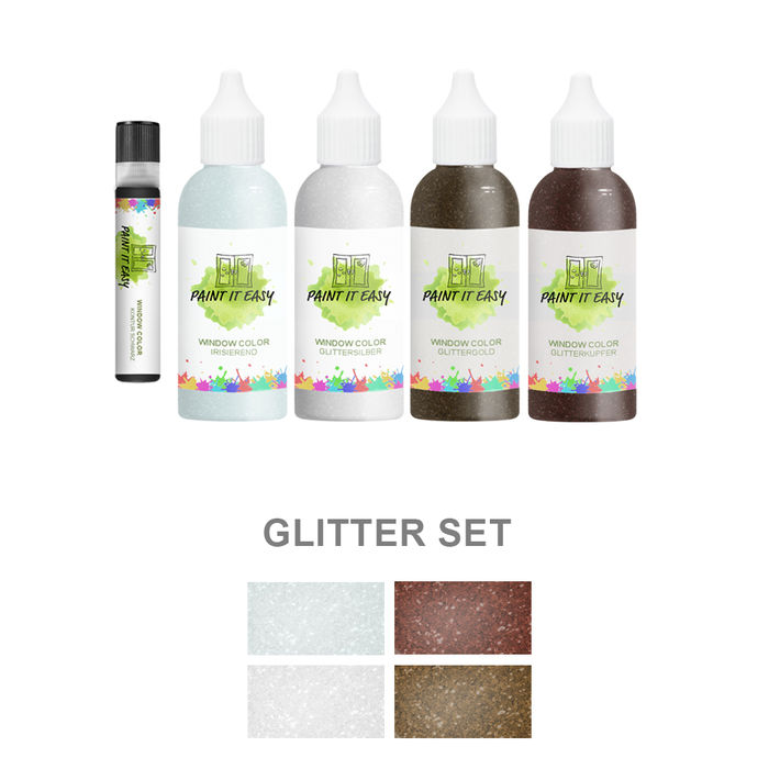 Paint It Easy Window-Color 85ml Glitter Set