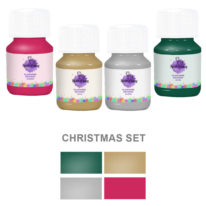 Paint It Easy Glasfarbe Deckend Christmas Set