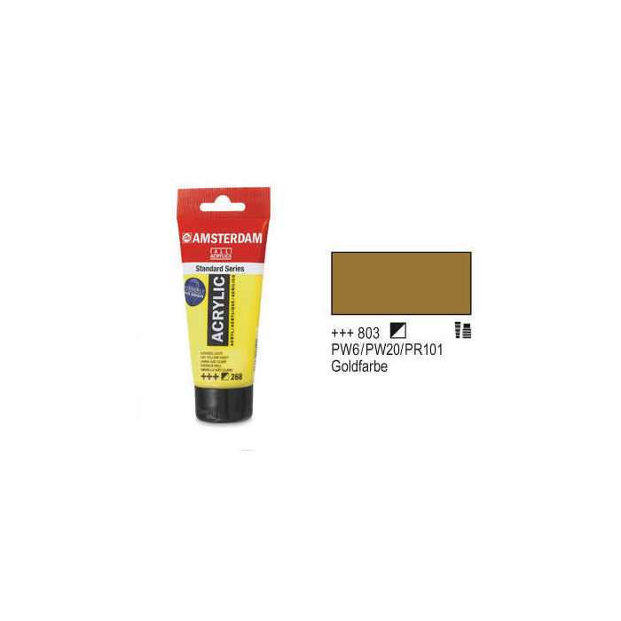 Amsterdam Acrylfarbe 120ml, Goldfarbe