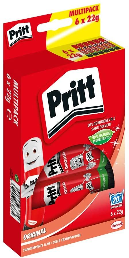 Pritt Klebestift Multipack, 6 x 22 g