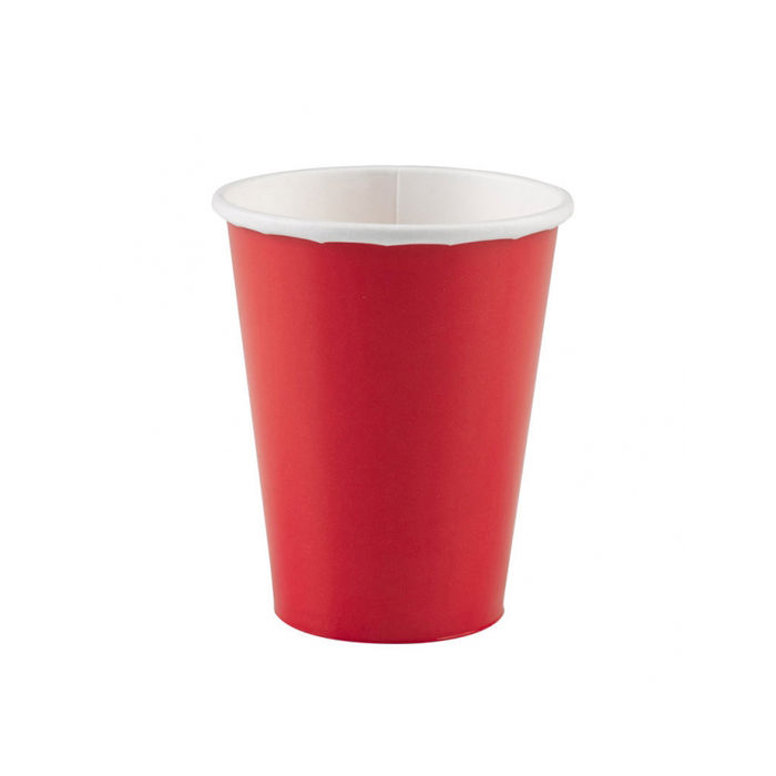 Becher rot, 266 ml, 8 Stk.