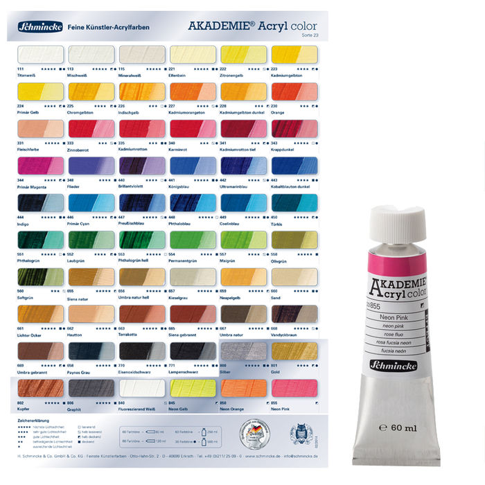 Akademie-Acryl  60ml, Orange Bild 2