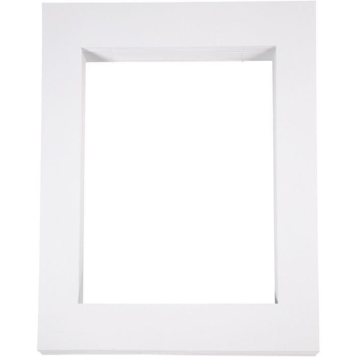 Passepartout-Rahmen 40x50 cm 100 Stck., weiß - Sets Papier & Pappe ...