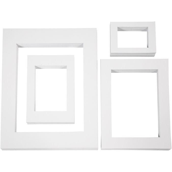 Passepartout-Rahmen,Sortiment, 400 sort. - Sets Papier & Pappe ...