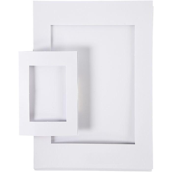 Passepartout-Rahmen A4+A6 120 sort. - Sets Papier & Pappe ...
