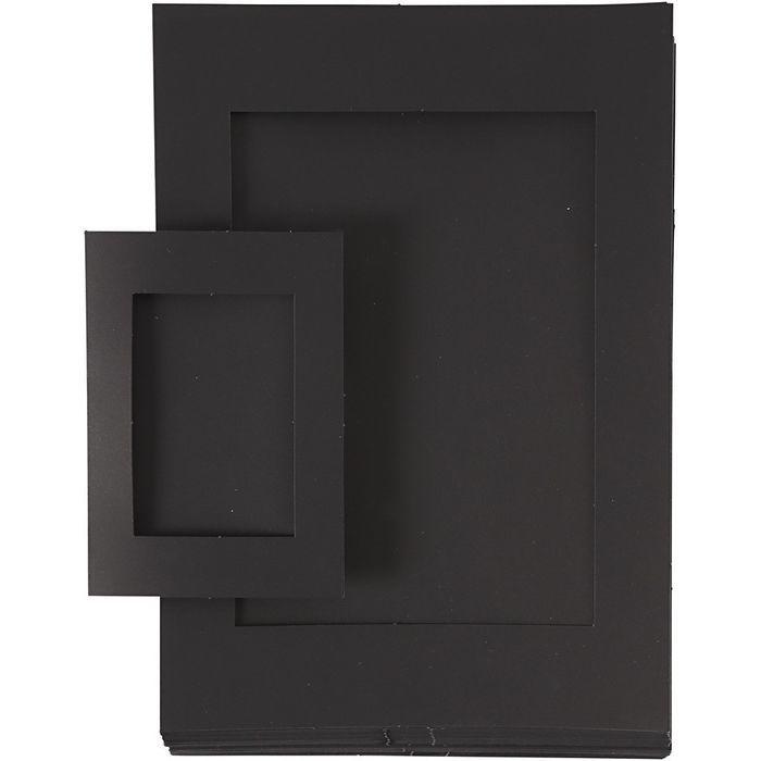 Passepartout-Rahmen A4+A6 120 sort. schwarz - Sets Papier & Pappe ...