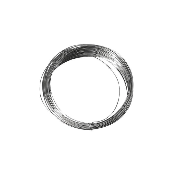 Silberdraht mit Kupferkern, 0,40 mm ø, 20 m - Ketten, Draht ...