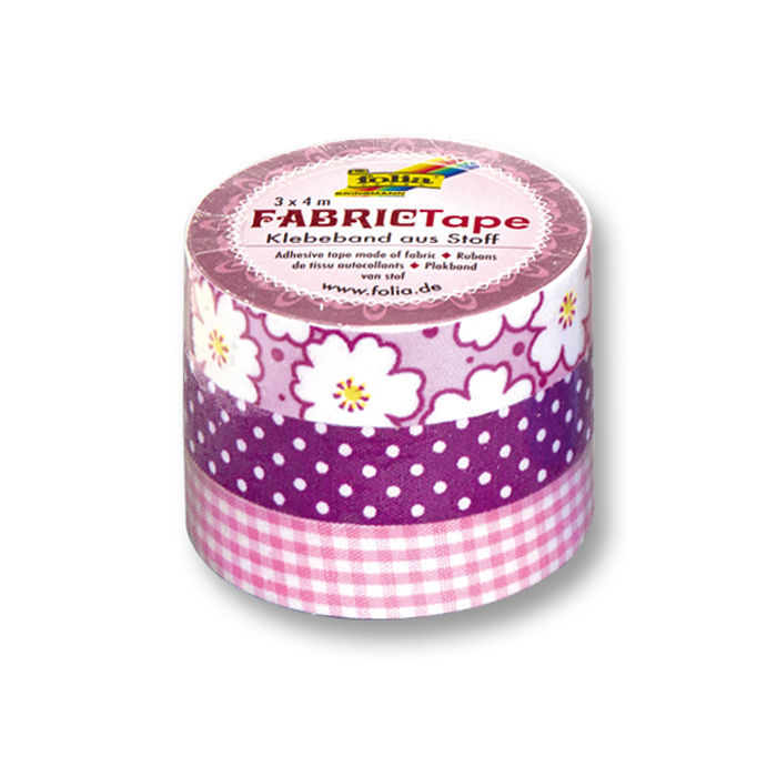 fabric tape stoff klebeband 3 rollen rosa washi tape. Black Bedroom Furniture Sets. Home Design Ideas