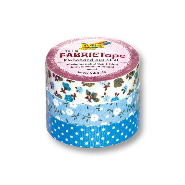 fabric tape stoff klebeband 3 rollen blau washi tape. Black Bedroom Furniture Sets. Home Design Ideas