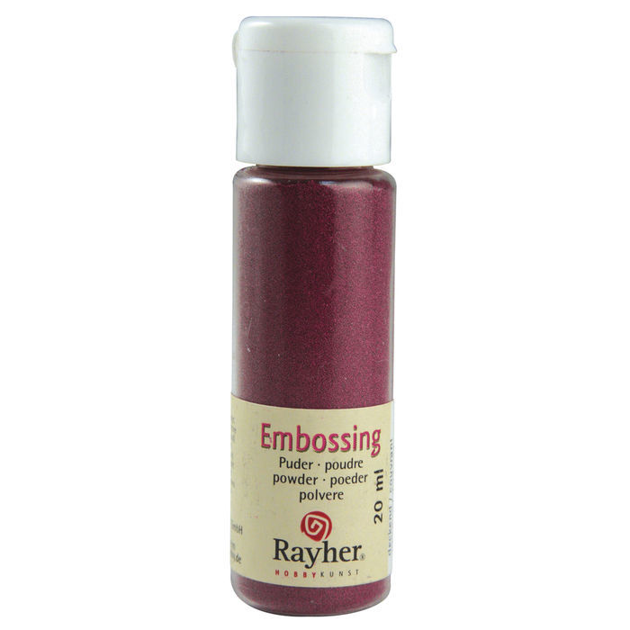 Embossing-Puder, 20 ml Flasche, bordeaux, deck.