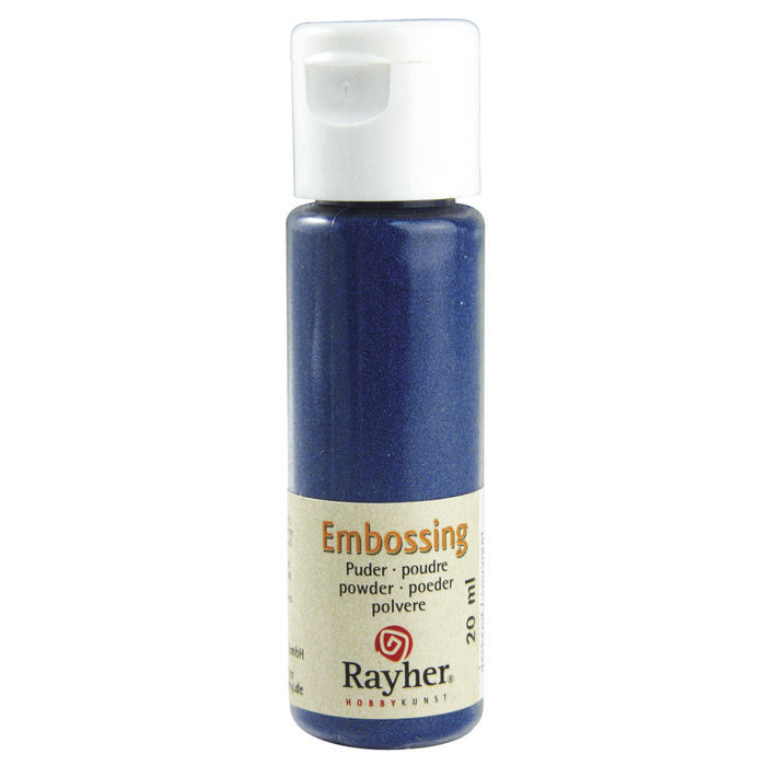 Embossing-Puder, 20 ml Flasche, royalblau, deck.