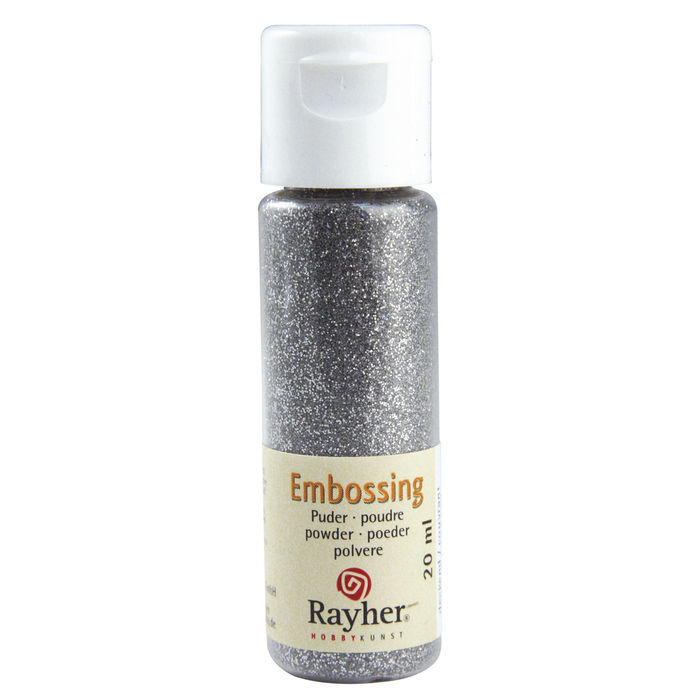 Embossing-Puder, 20 ml Flasche, brill.silber, deck