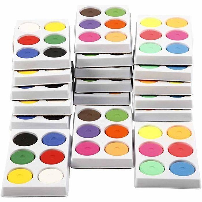 Wasserfarben-Palette, D:44 mm, 18 Schalen - Sets Farben & Co ...