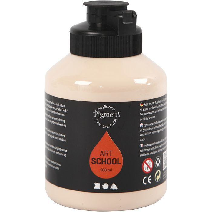 Pigment Art School-Farbe, Hautton hell, 500ml