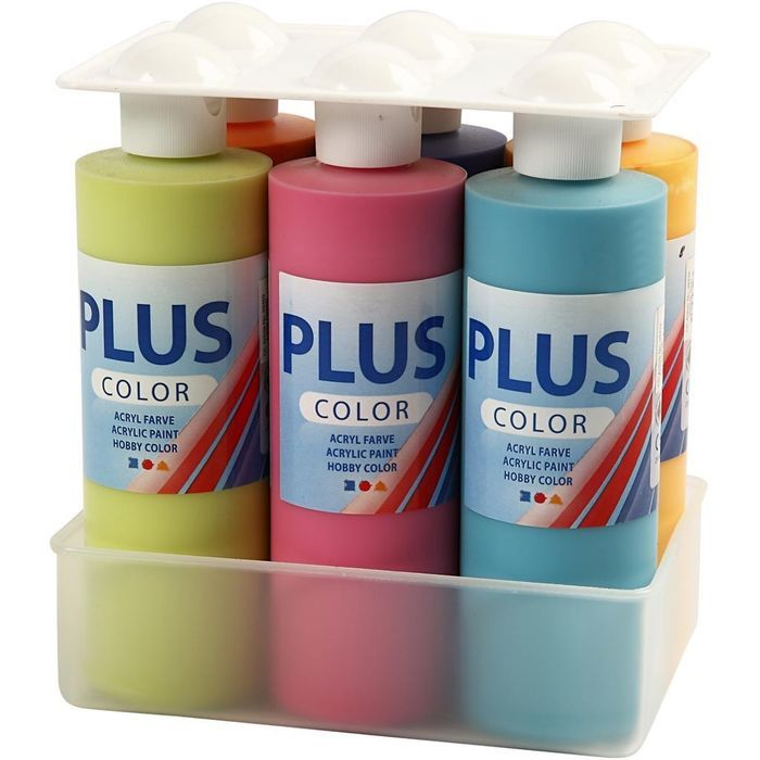 Plus Color Bastelfarbe, 6x250 ml Bild 2