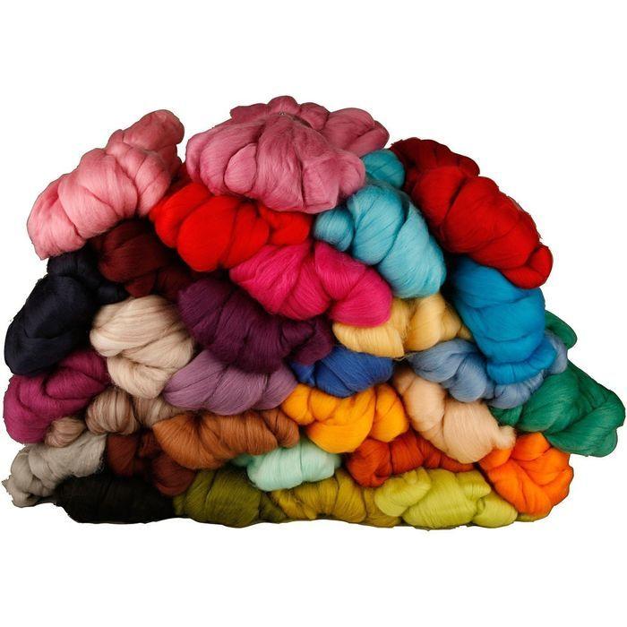 Filzwolle Märchenwolle 30 Farben 1000 Gramm