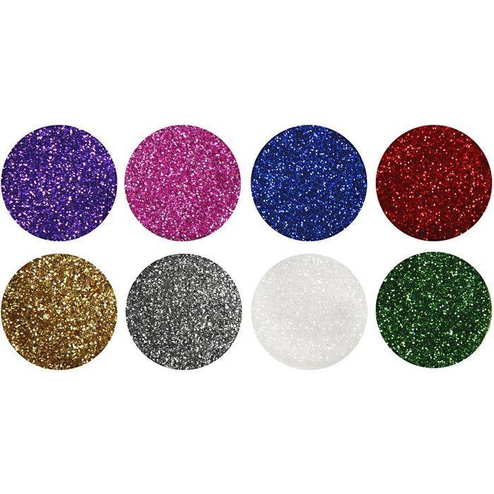 Deko Glitter 8x110 G Sortierte Farben Sets Materialmix