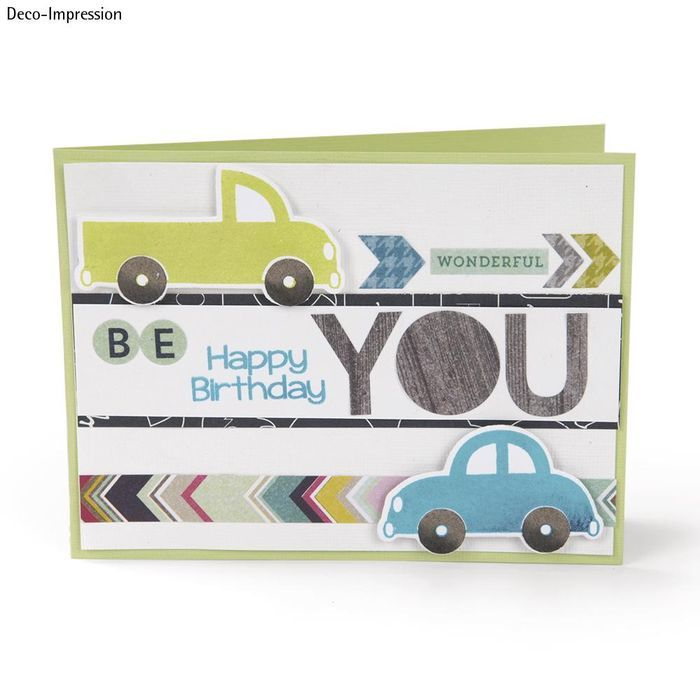 Sizzix Framelits Set with Stamp, Cars Bild 3