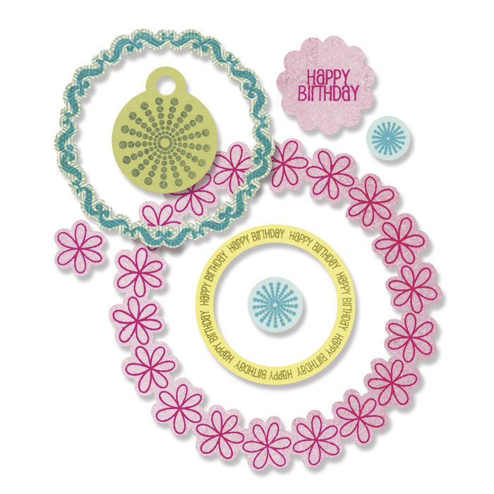 Sizzix Framelits Set Stamp, Circles&Tags