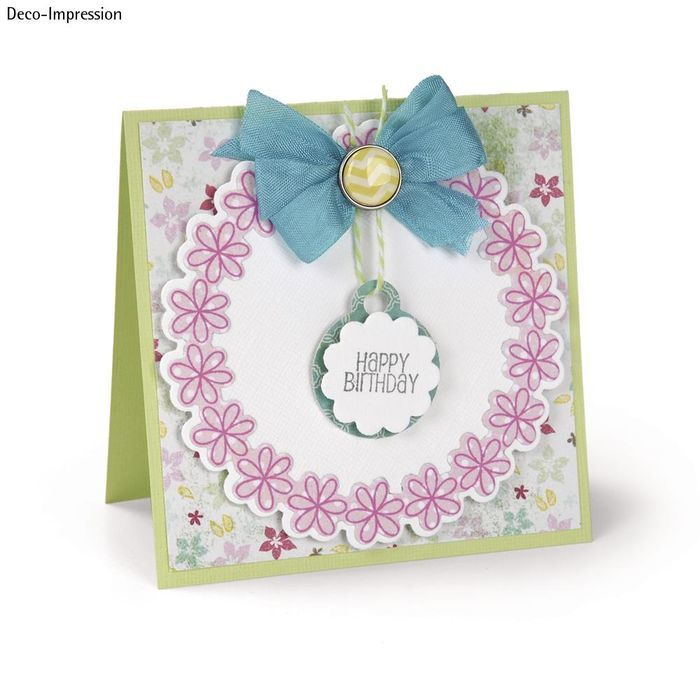 Sizzix Framelits Set Stamp, Circles&Tags Bild 3