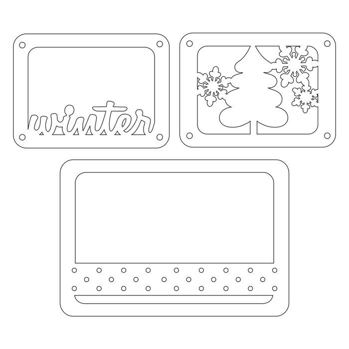 Sizzix Thinlits Die Set- Winter Bild 2