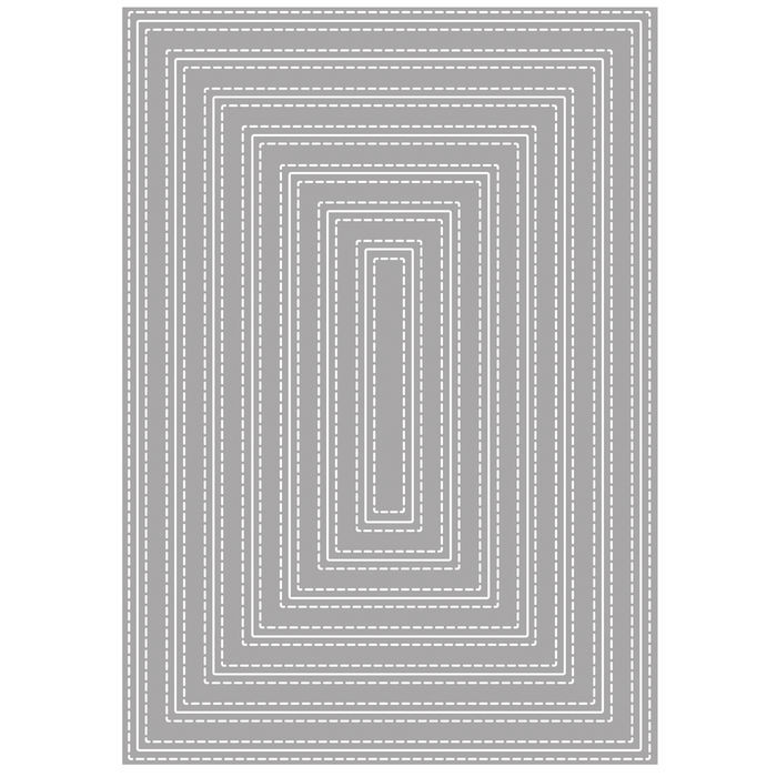 Stanzschabl.: Double Stiched Rectangles