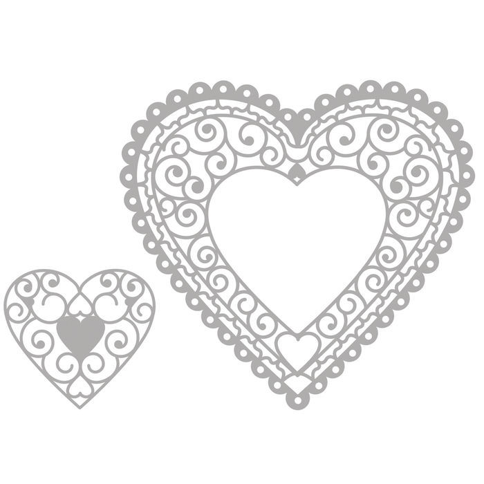 Delicate Die- Heart Doily