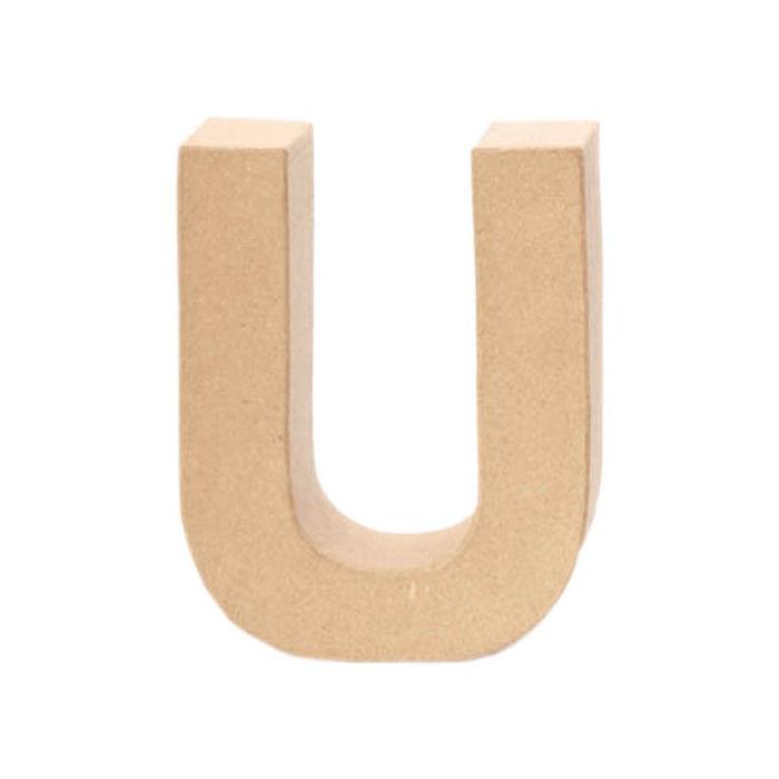 Papp-Buchstabe U 17,5x5,5cm