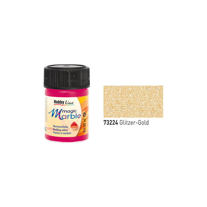 Hobby Line Magic Marble Glitzer-Gold, 20ml