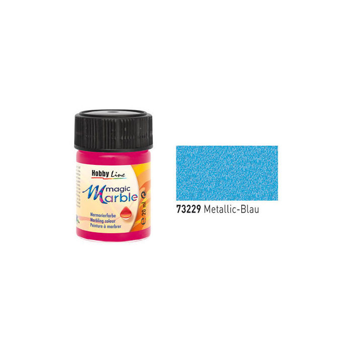 Hobby Line Magic Marble Metallic-Blau, 20ml