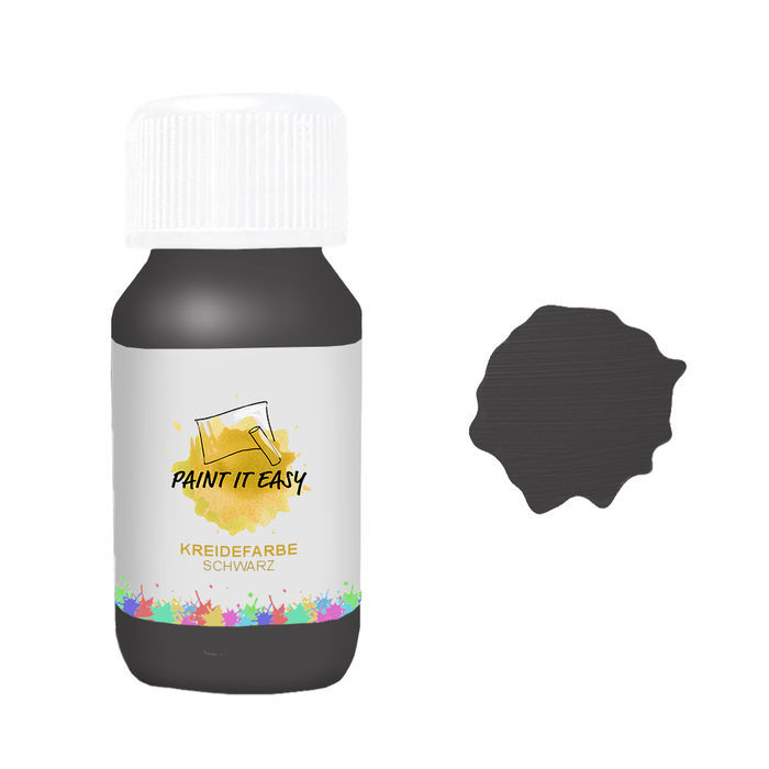 Paint It Easy Kreidefarbe, 100ml, Schwarz