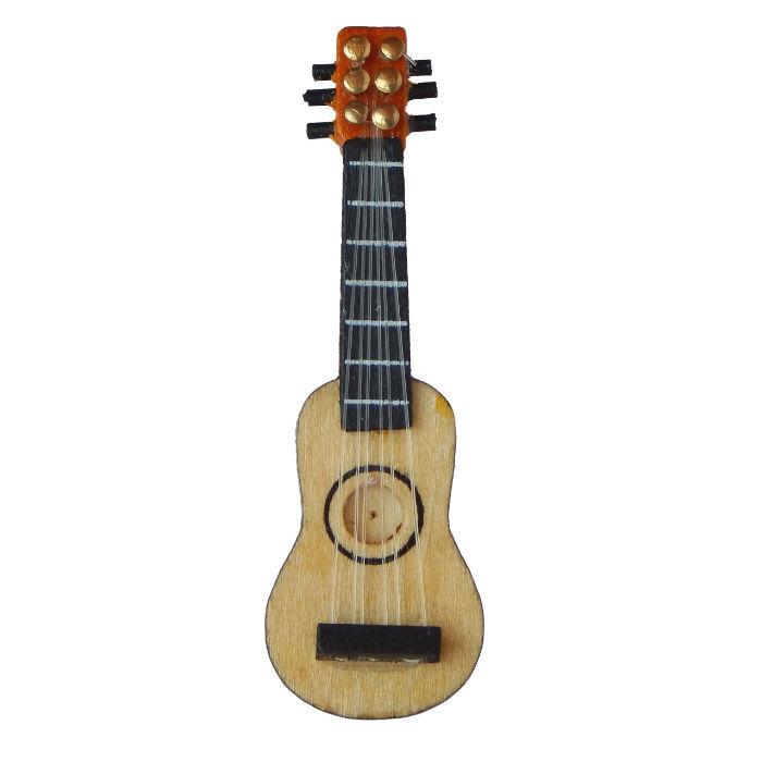 55 cm Doremini Holzgitarre mit 6 Saiten Musikinstrumente