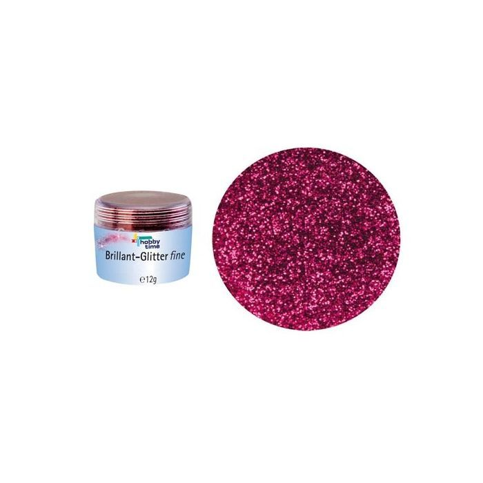 Glorex Brillant Glitterfein, 10 g, Bordeaux
