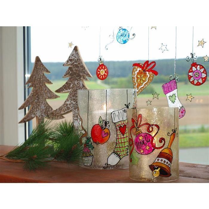 fensterbilder zu weihnachten mit c2 ideen f r. Black Bedroom Furniture Sets. Home Design Ideas