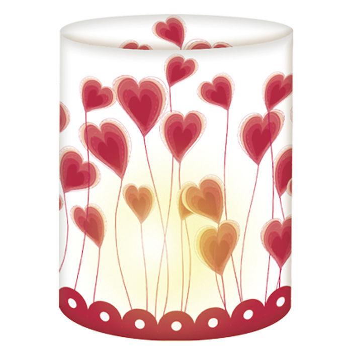 Mini Tischlicht Herzen 10 X 27 Cm Bastel