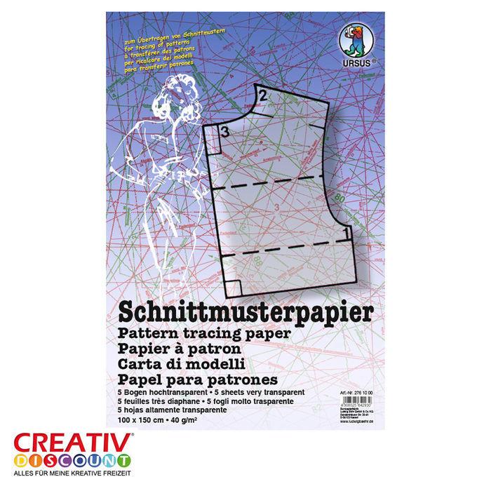 NEU Schnittmusterpapier 100x150cm, 5 Bogen gefalzt - Schablonen ...