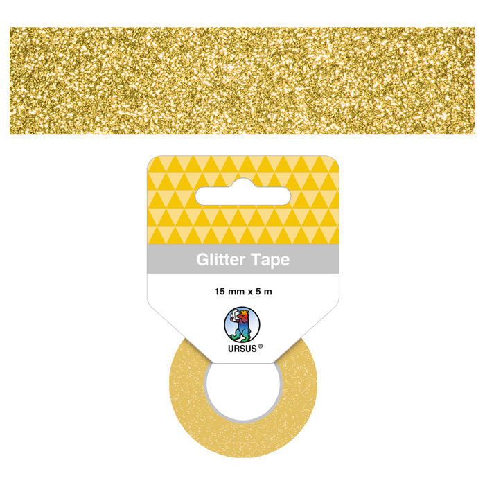 Glitter Tape Klebeband 15mm x 5m, Gold