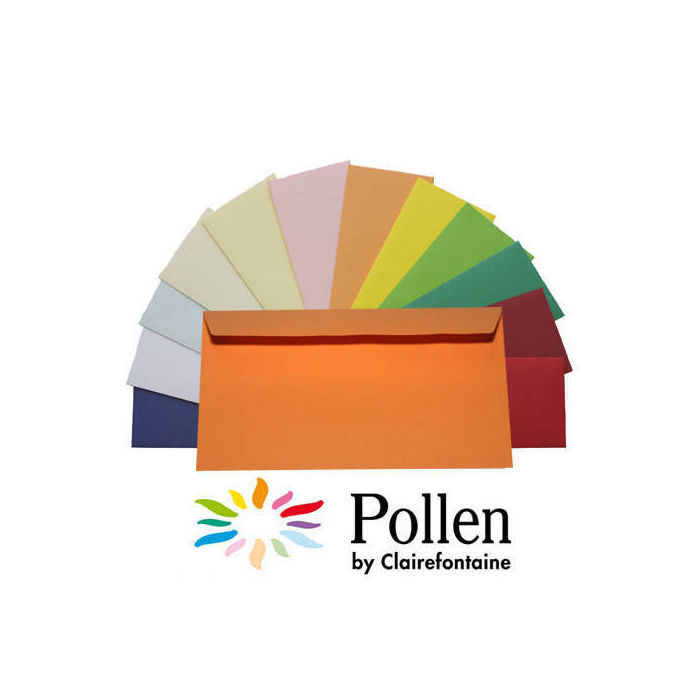 Pollen Papeterie Kuvert lang 120g 20 St Clementine