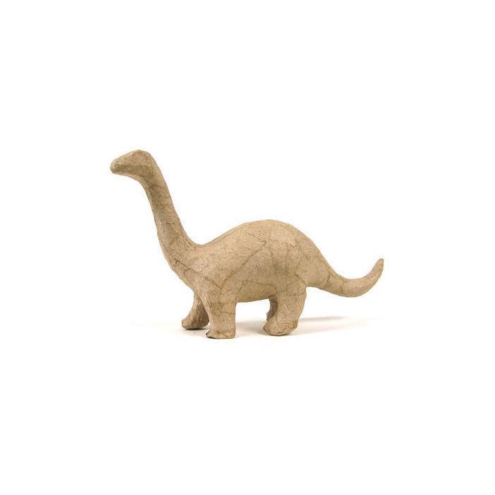 pappmach figur dino brontosaurus 17x10x5cm alles aus pappe karton basismaterial basteln. Black Bedroom Furniture Sets. Home Design Ideas
