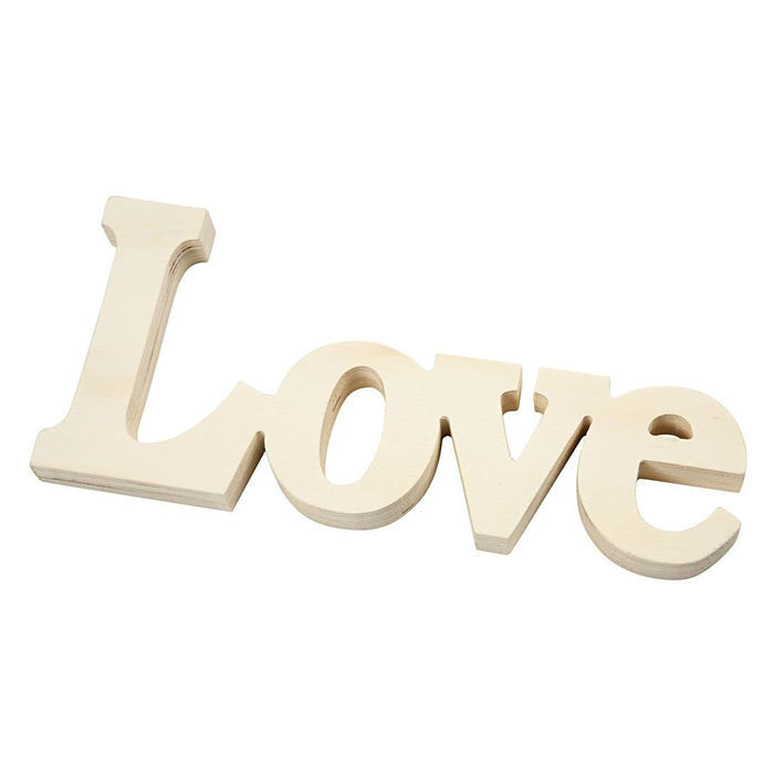 Holz Deko Schriftzug Love Ca 23x10 Cm Sonstige