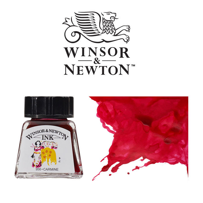 Windsor & Newton Tusche 14 ml, Karminrot
