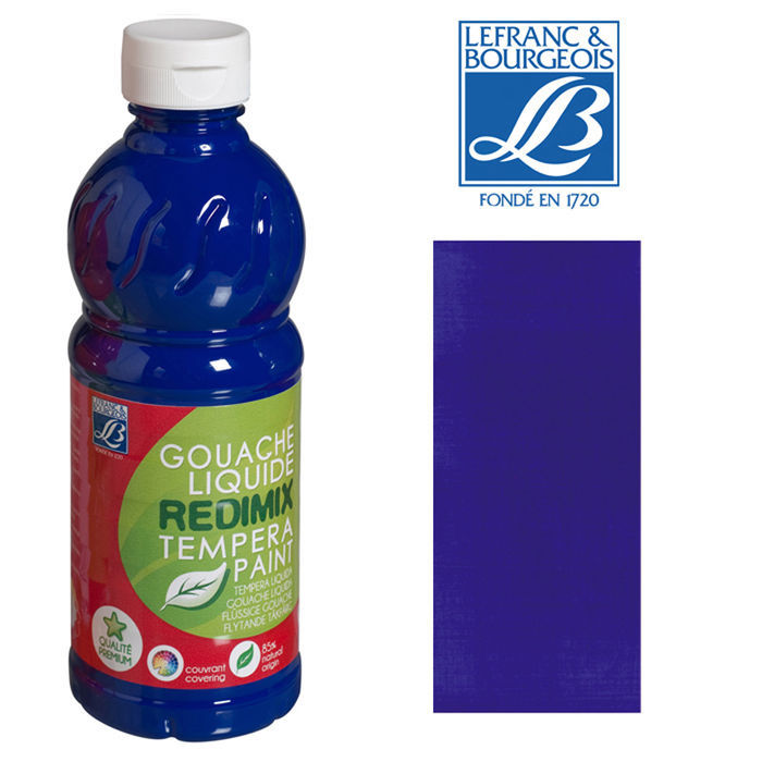 SALE Schulmalfarbe/ Gouache 500 ml, Ultramarinblau