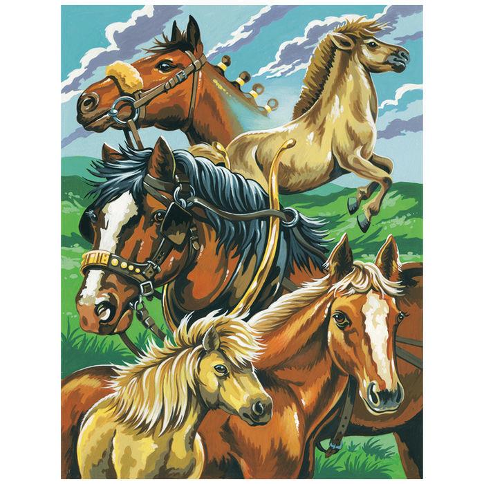 sale malen nach zahlen pferde 23x30cm  malen nach zahlen